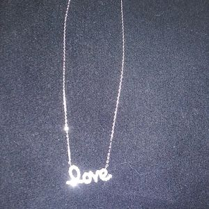 "SILVER 925 ""LOVE"" NECKLACE"